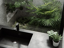 CGI-plant bathroom