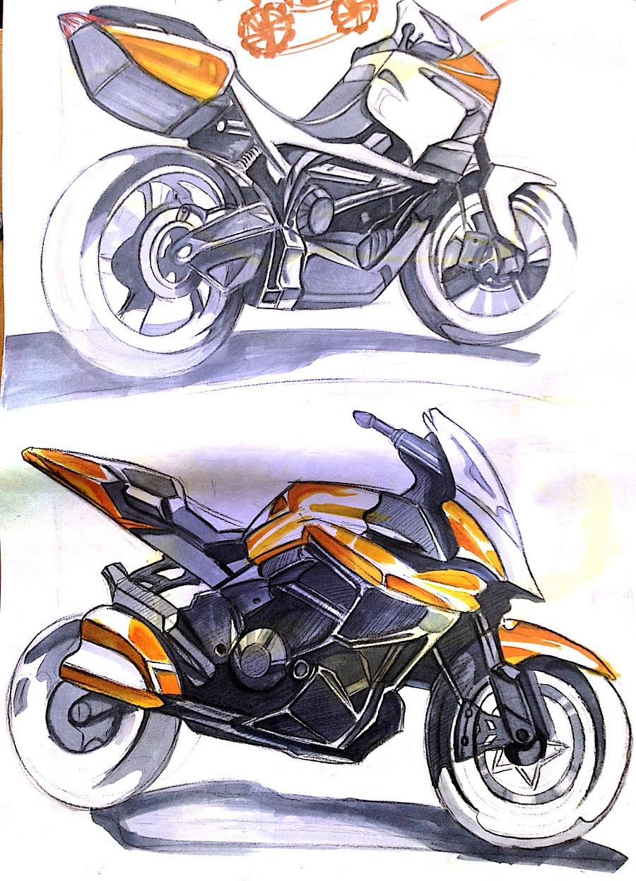 工业设计手绘-马克笔(色粉)上色|绘画习作|插画|为泽
