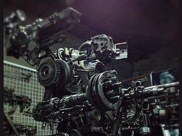 九素(北京)原创机械装置雕塑---行走兵器I