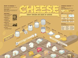 1811 Cheese Infographic Poster