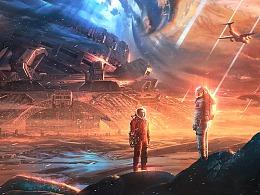 流浪地球同人海报-《梦》