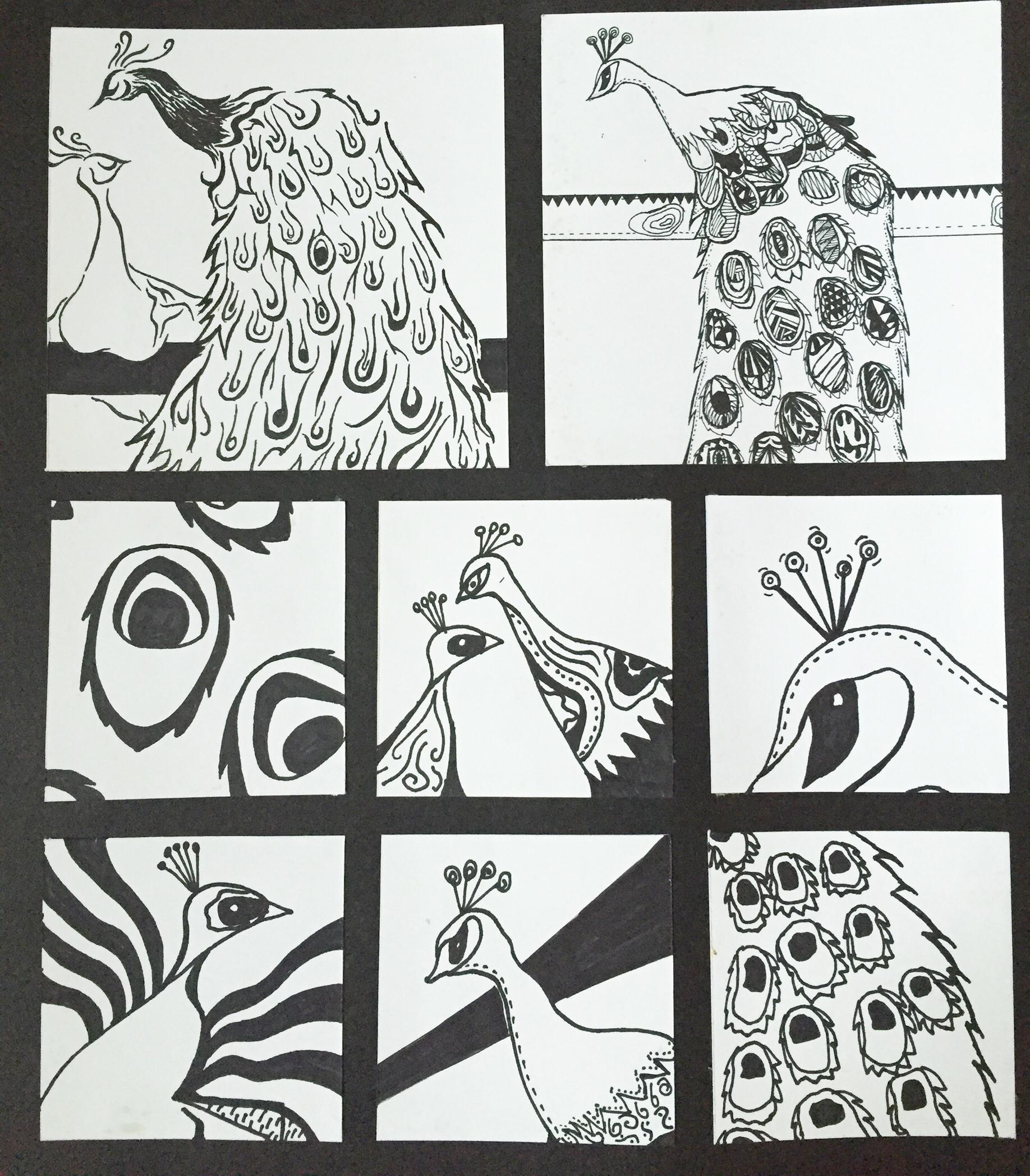 黑白画 纯艺术 钢笔画 陈爽琪 - 原创作品 - 站酷图片