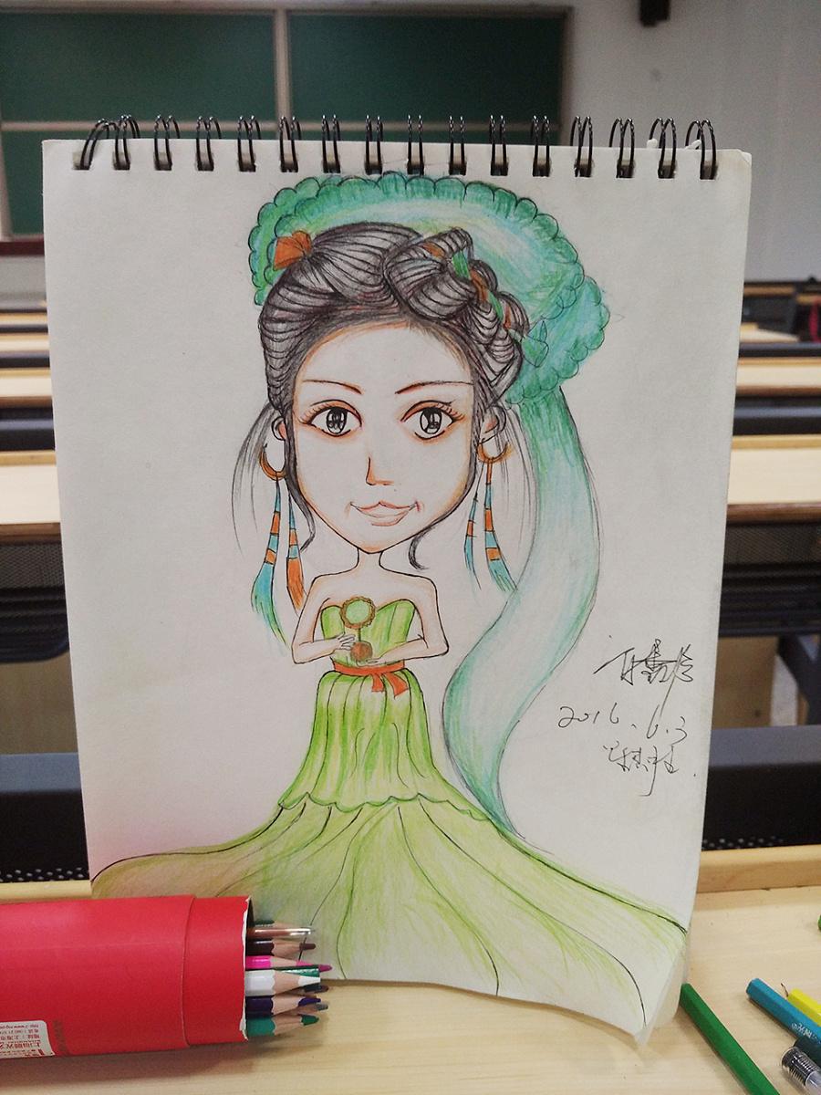 手绘卡通人物形象|商业插画|插画|安暖暖