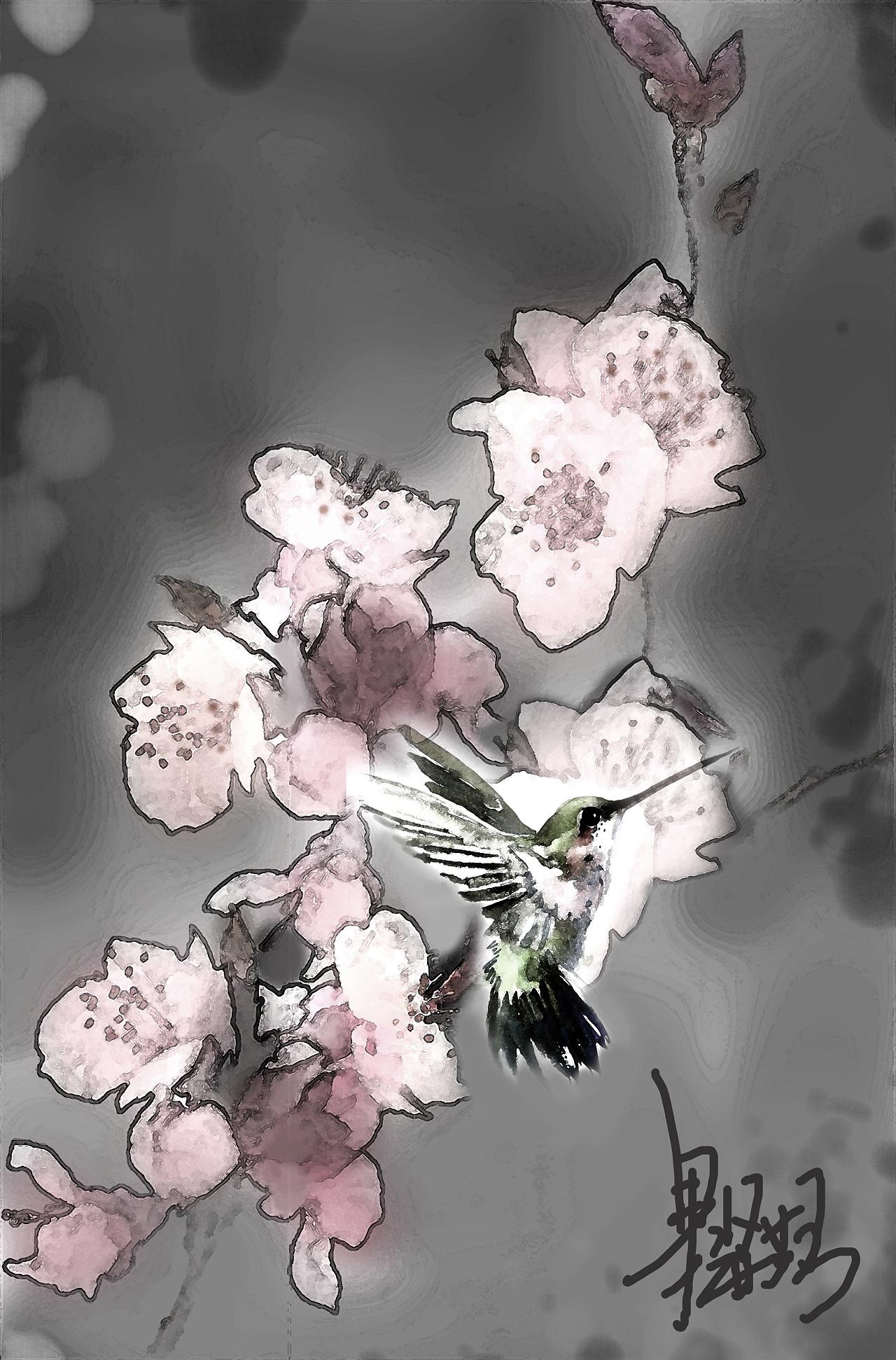 作品《梅花》作者:果酱女王-俞果图片