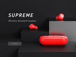 supreme 蓝牙耳机渲染