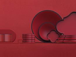 海棠系列——餐具设计