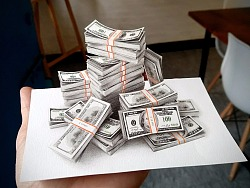 彩铅插画—美钞