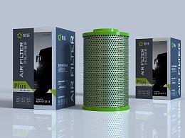 高端大车空气滤芯包装设计-悟杰品牌视觉设计