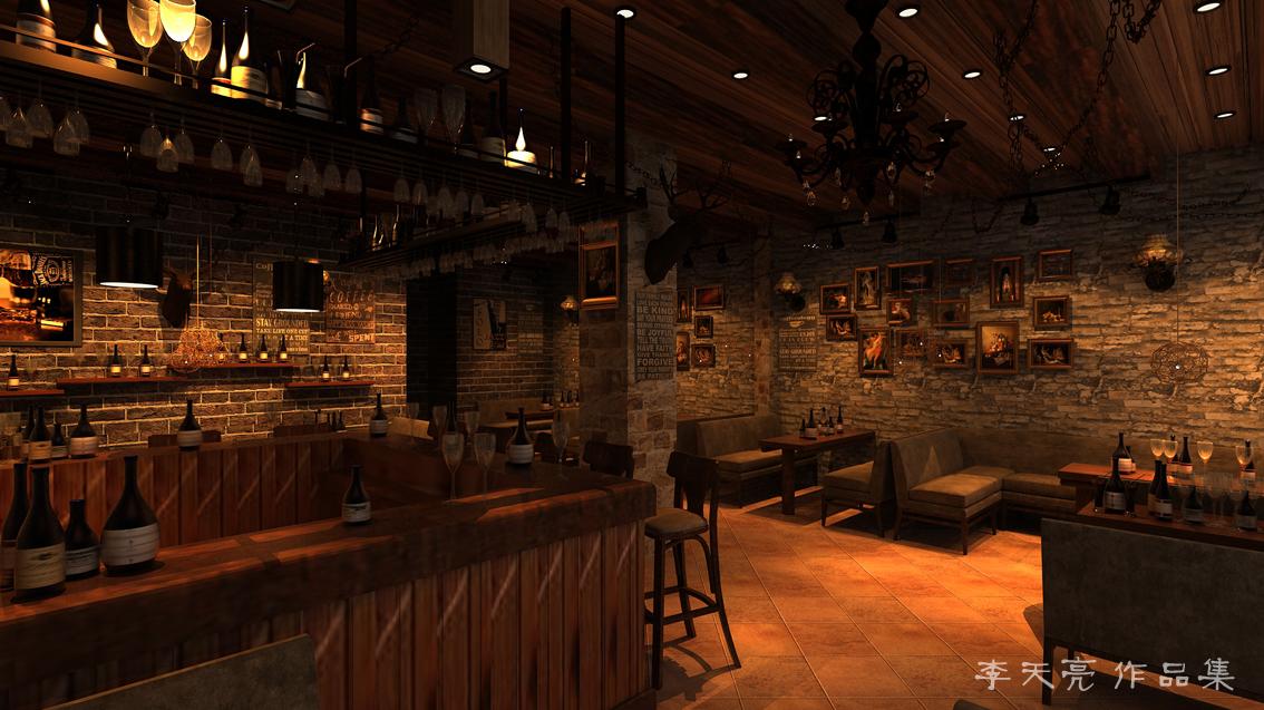 美式复古风格-酒吧图片
