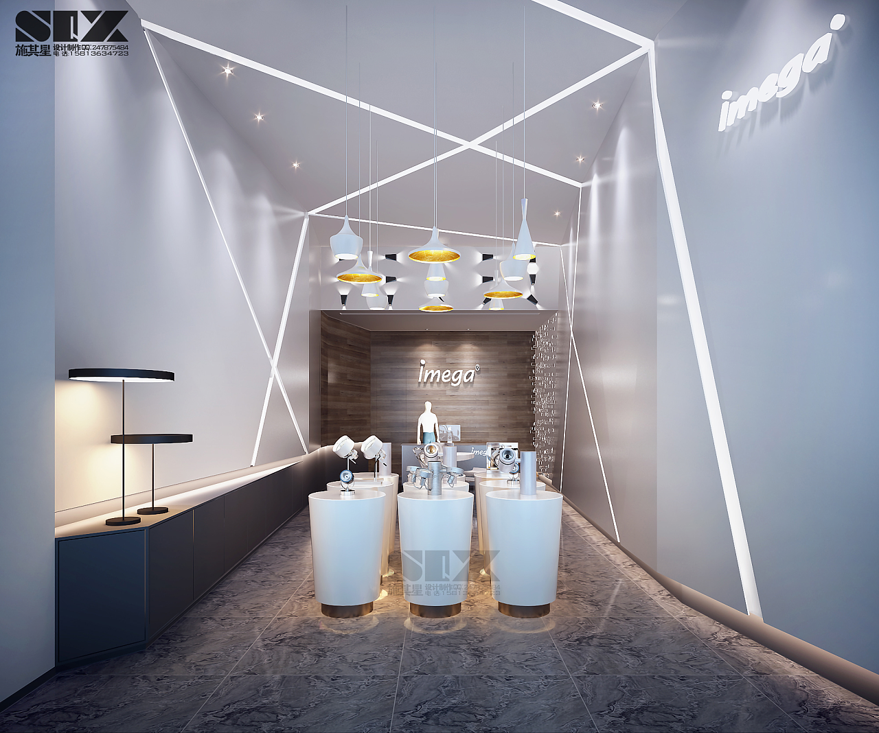 灯具展厅|空间|室内设计|施其星室内设计 - 原创作品