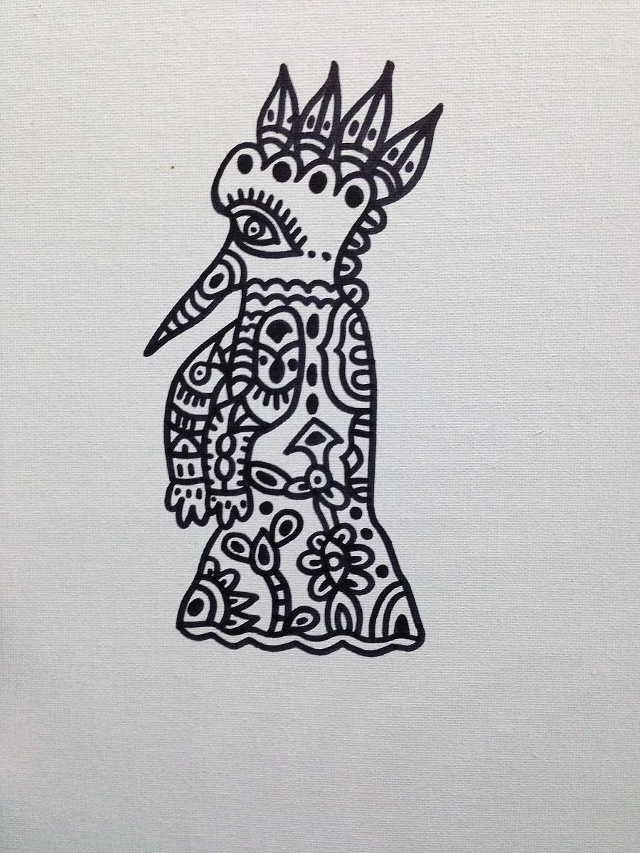马克笔手绘-鸟人|绘画习作|插画|荣儿茜r