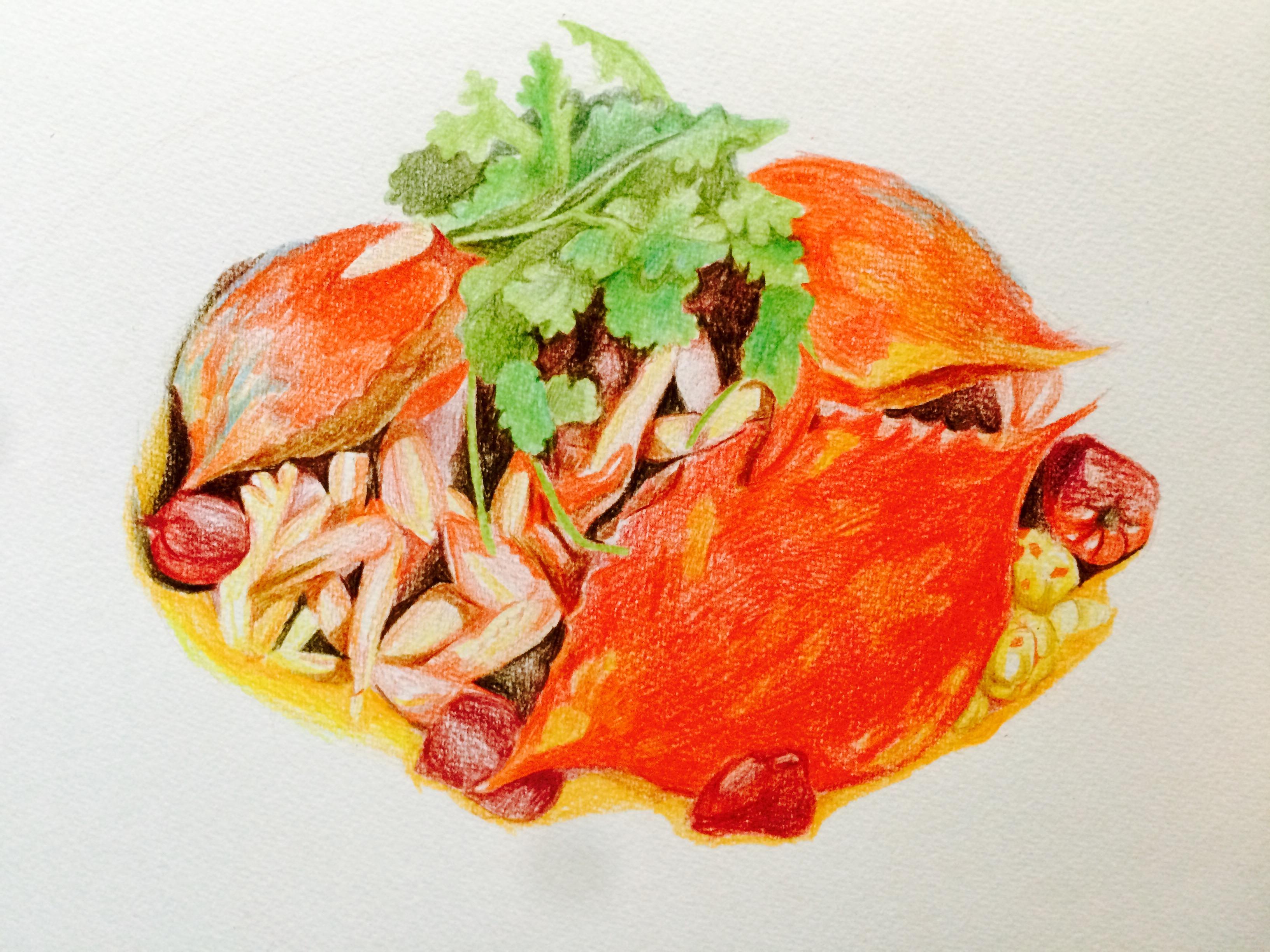 彩铅手绘美食 图片合集