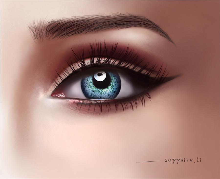 手绘-眼睛|插画习作|插画|sapphire_li - 原创设计