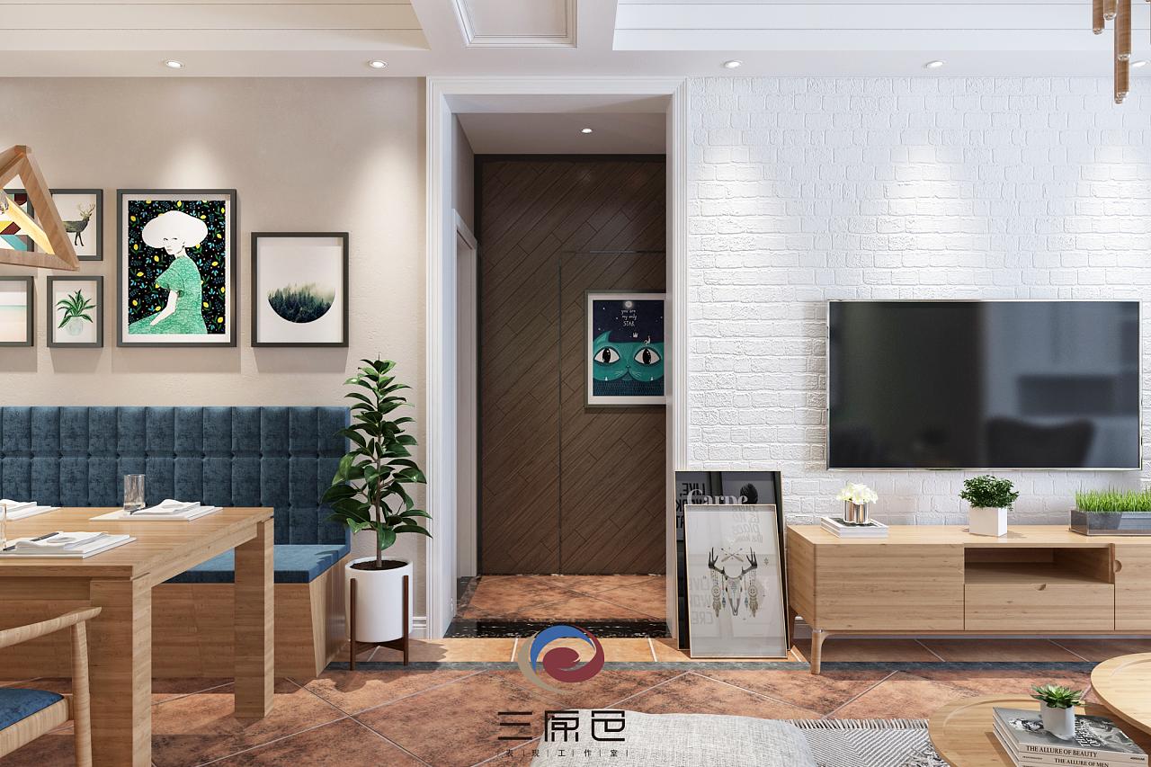 小清新客餐厅家居表现.|空间|室内设计|yi念间 - 原创