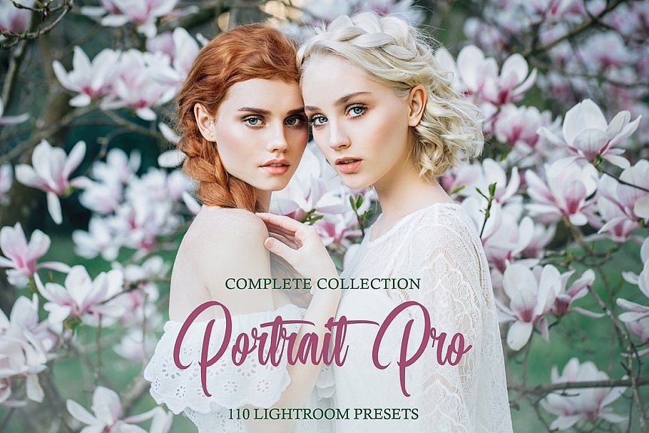 【P341】明亮通透时尚人像后期Lightroom预设Portrait Pro Complete Collection