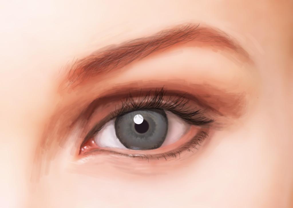手绘,眼睛
