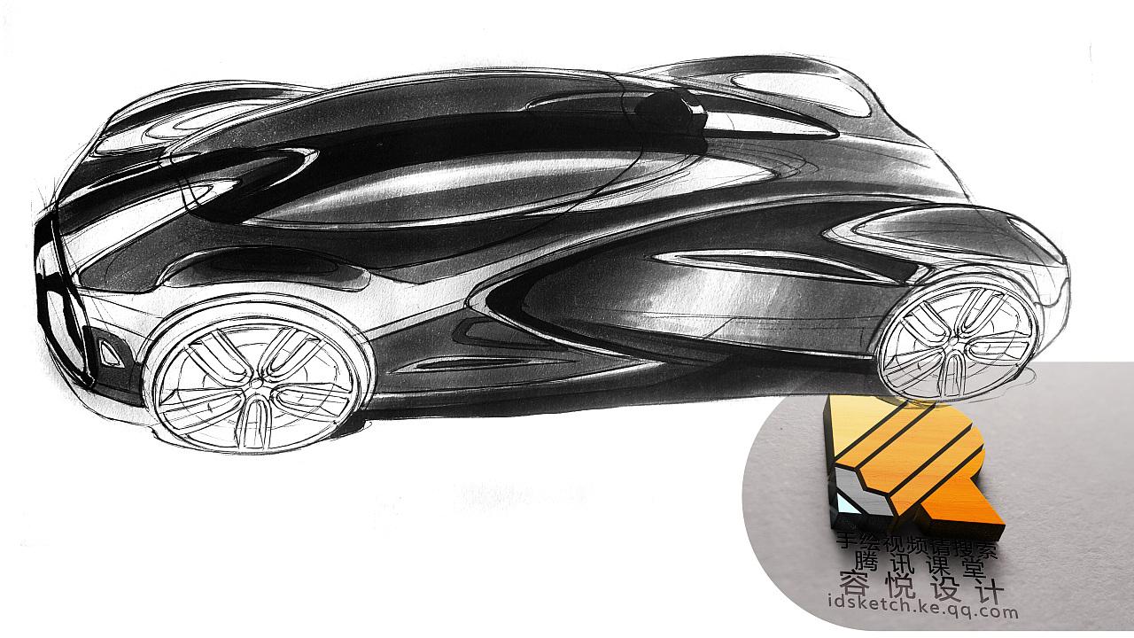 工业设计产品设计汽车设计马克笔手绘工业设计考研手绘图片