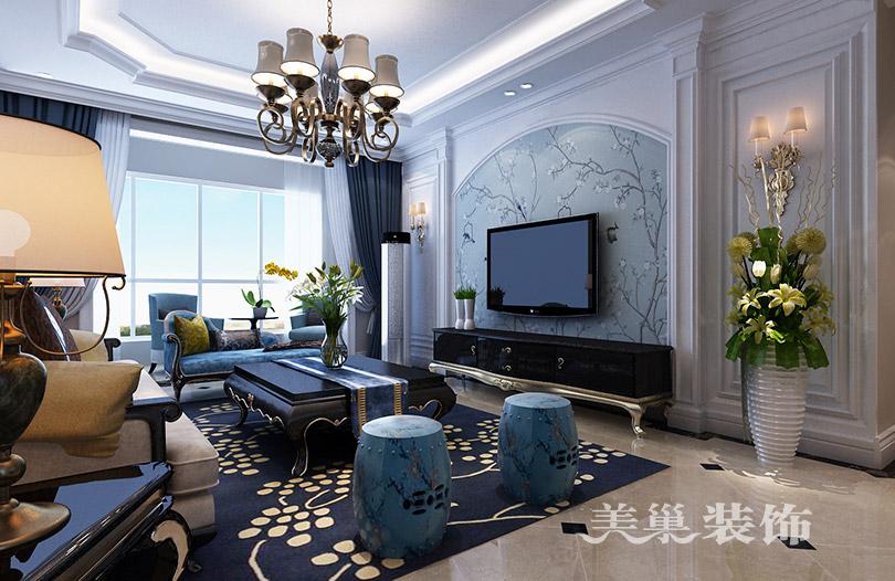 翰林国际城130平简欧 三室两厅 装修效果图图片