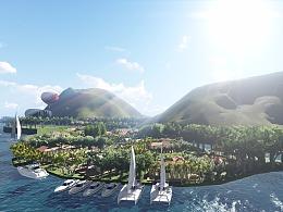 温泉度假酒店景观设计(附动画)