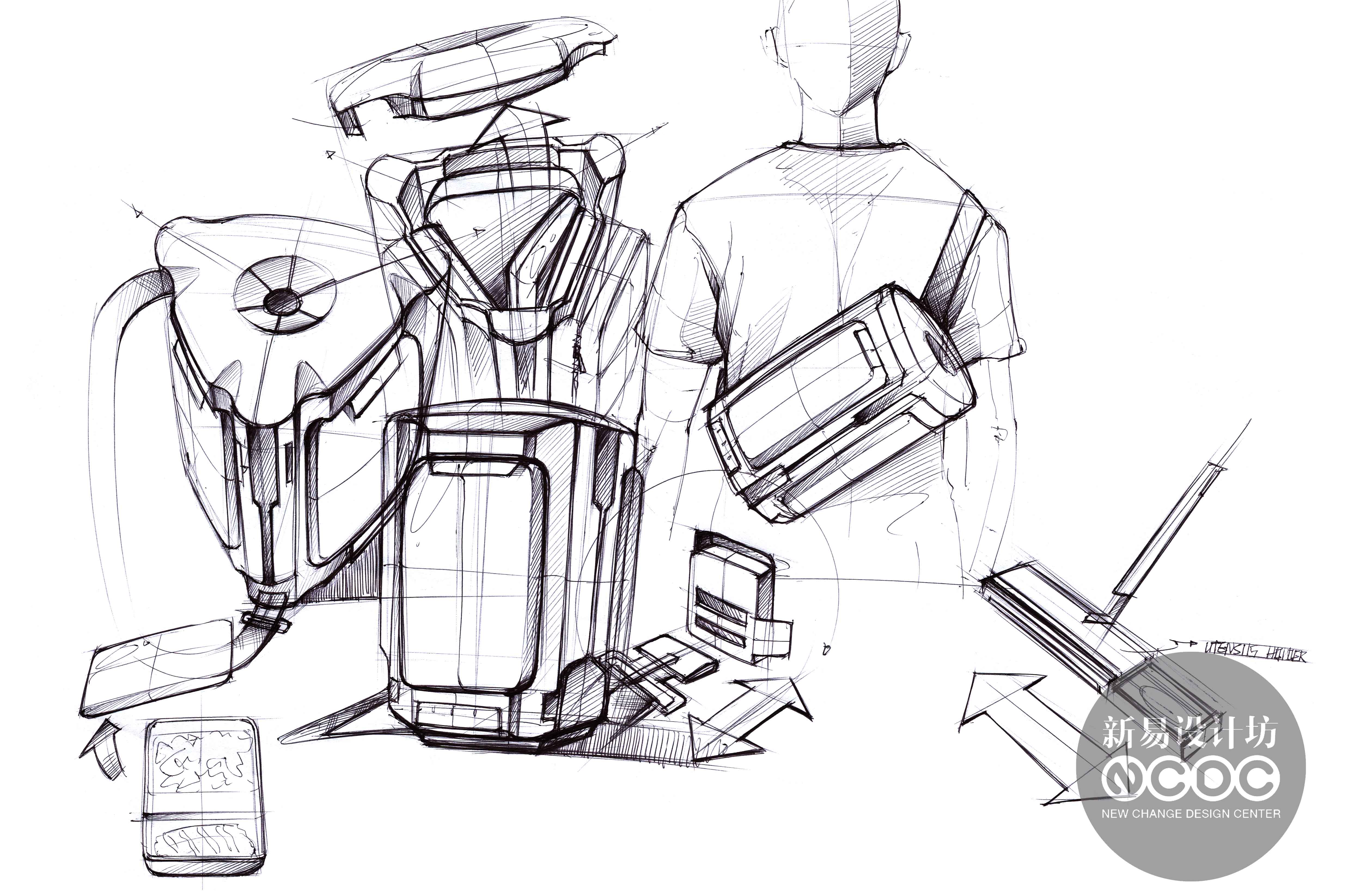工业设计手绘;手绘超精致表达;新易设计坊