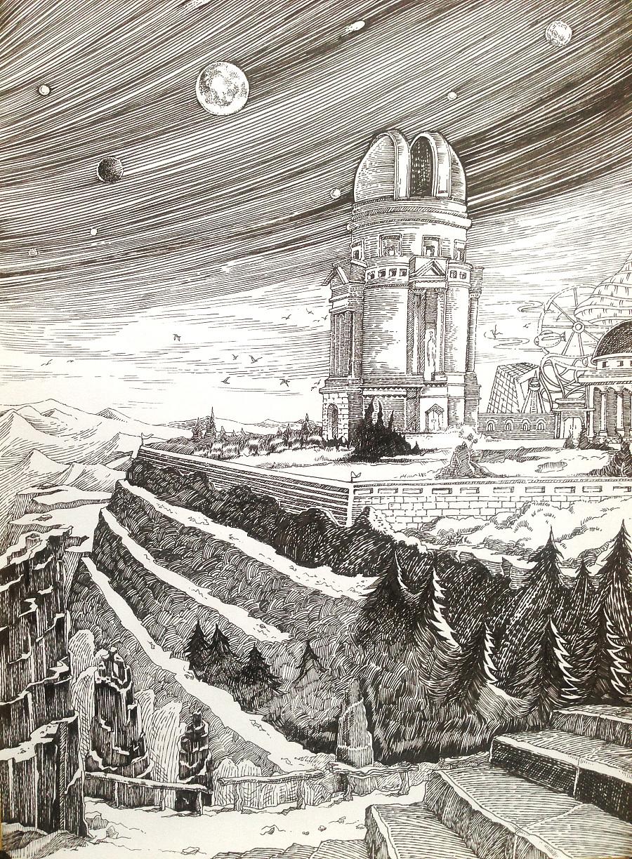 》科幻小说的手绘插画|商业插画|插画