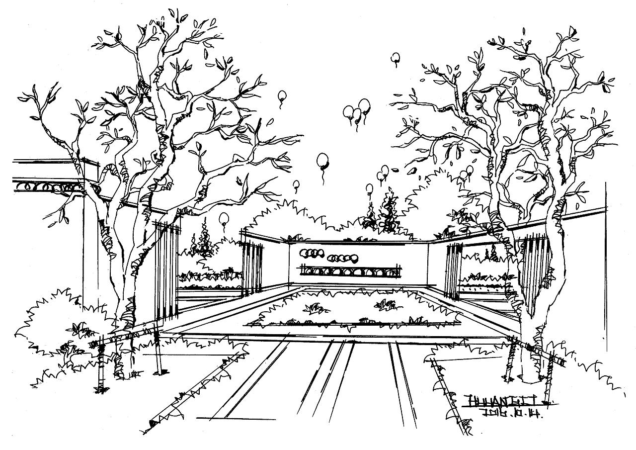 景观手绘玩法|空间|景观设计|晋绘手绘 - 原创作品