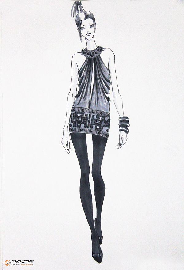 服装马克笔手绘系列——孙雪飞老师