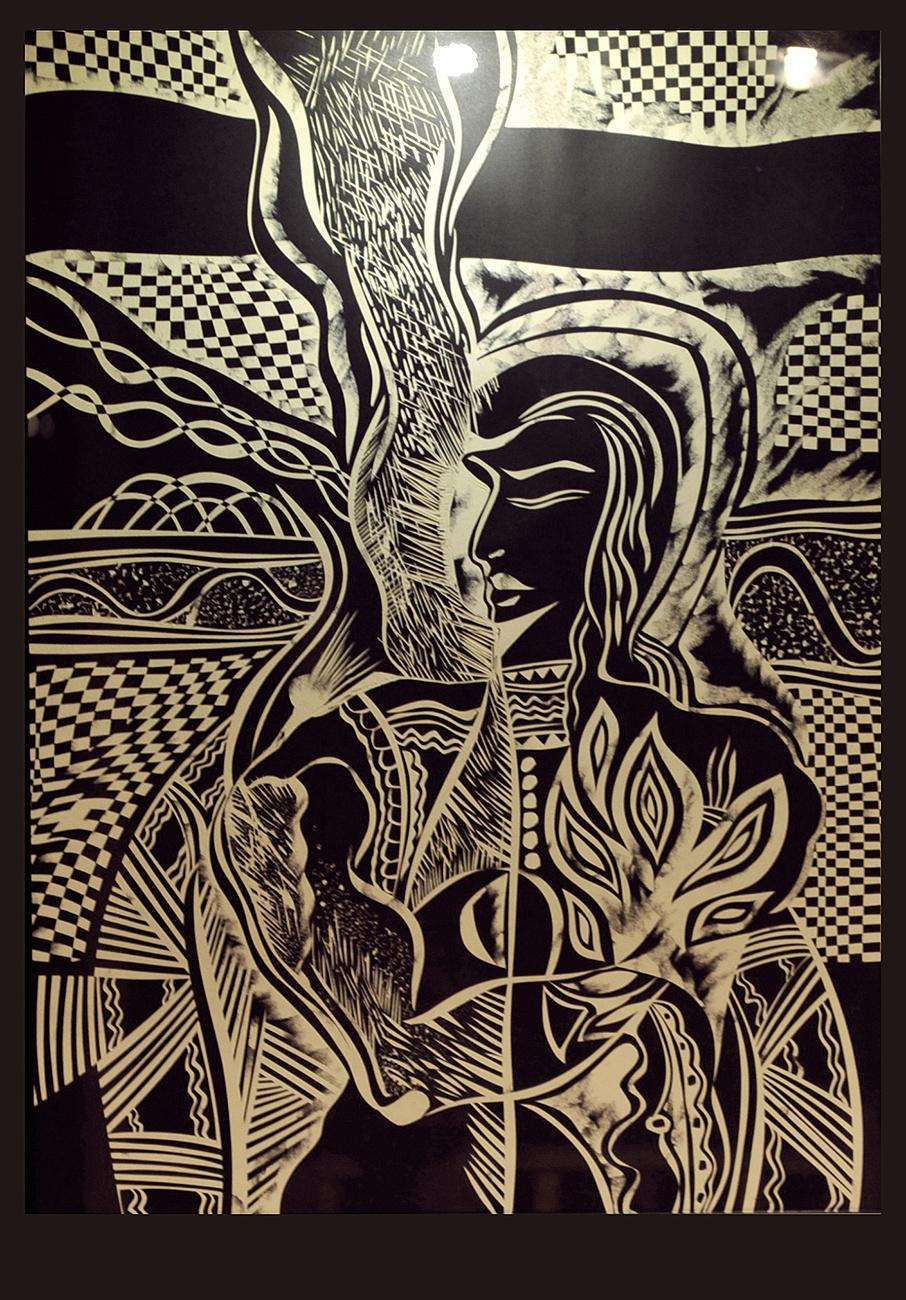 阿兰_黑白纸刻画——及大船山庄设计|插画|其他插画|nilelanger - 原创 ...