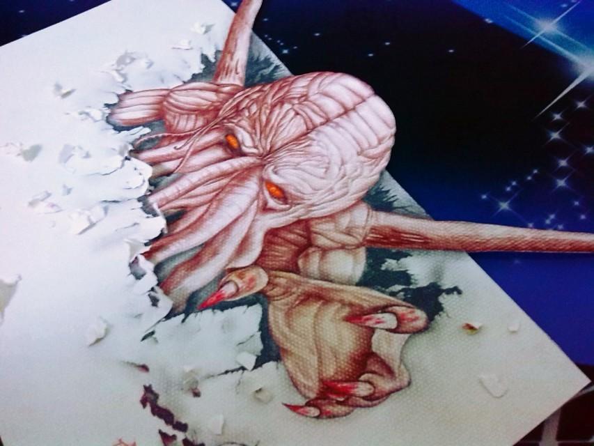 铅笔3d绘画|其他|墙绘/立体画|kgf峰丶 - 原创作品