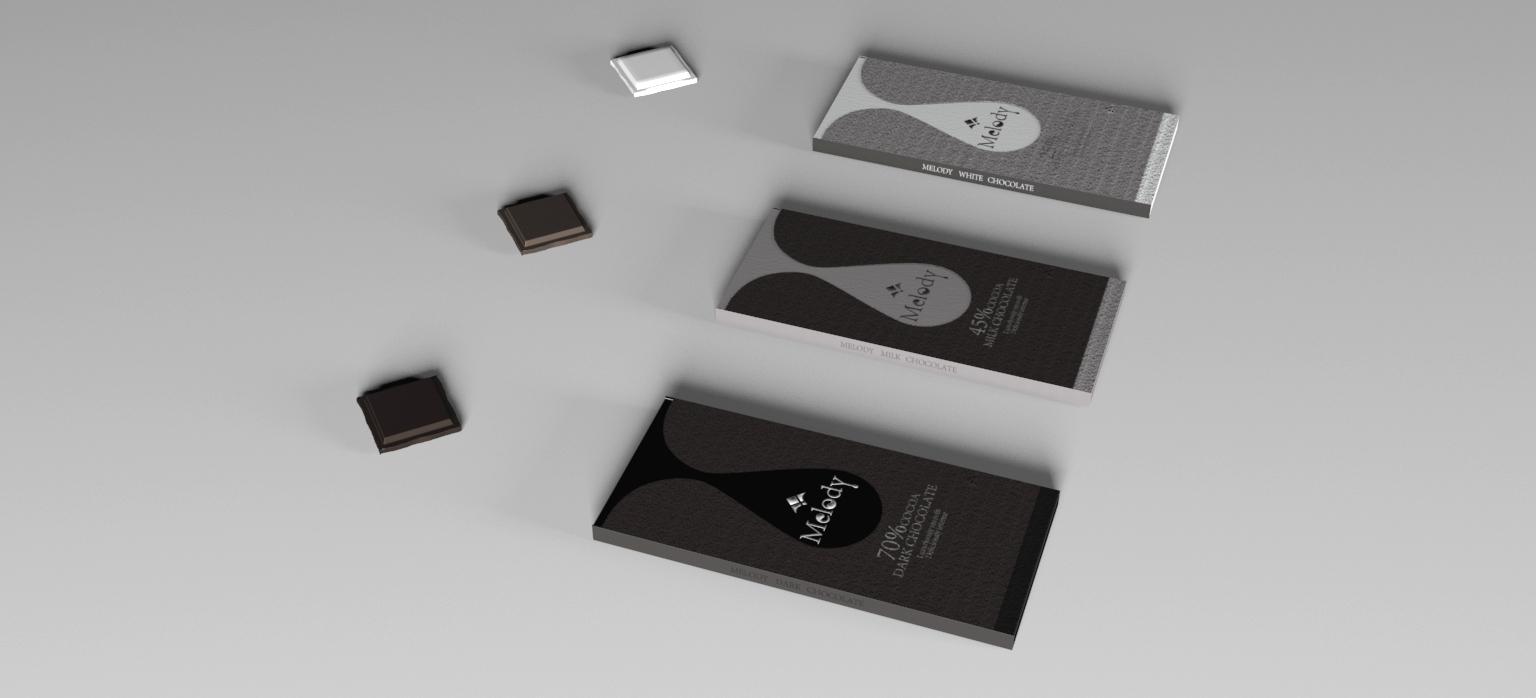 melody巧克力包装设计图片