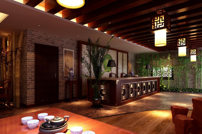 德阳茶艺厅装饰设计卓巧装饰>施工设计图百度云图片