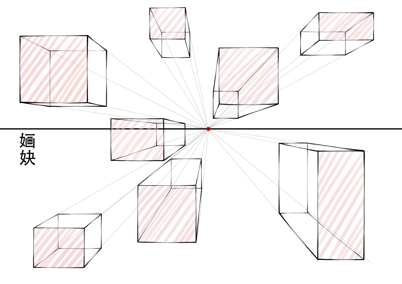一点透视练习|三维|建筑/空间|婳妜 - 原创作品