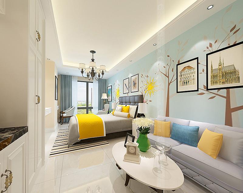 昆明公寓式酒店装修公司北欧风格公寓式酒店设计效果图