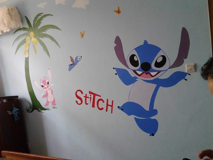 太原手绘墙卡通背景墙画|墙绘/立体画|其他
