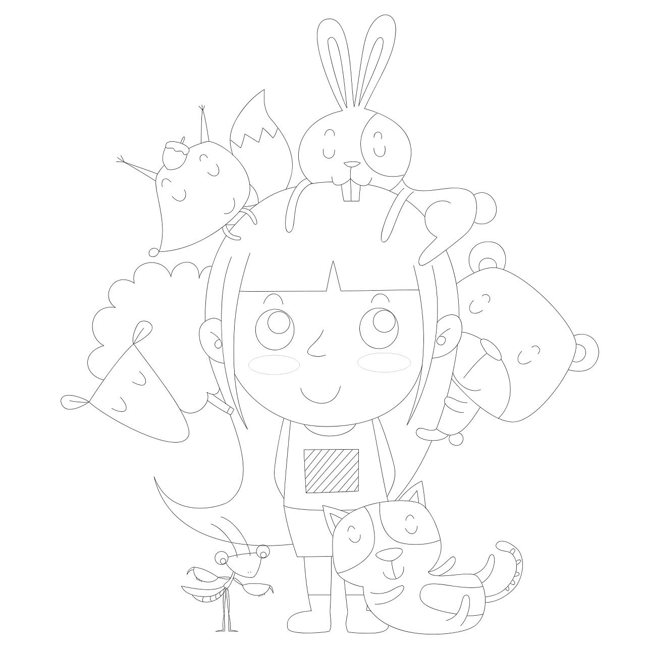 罗monkey的动物王国 插画 儿童插画 luokaiying图片