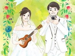 手繪婚禮卡片