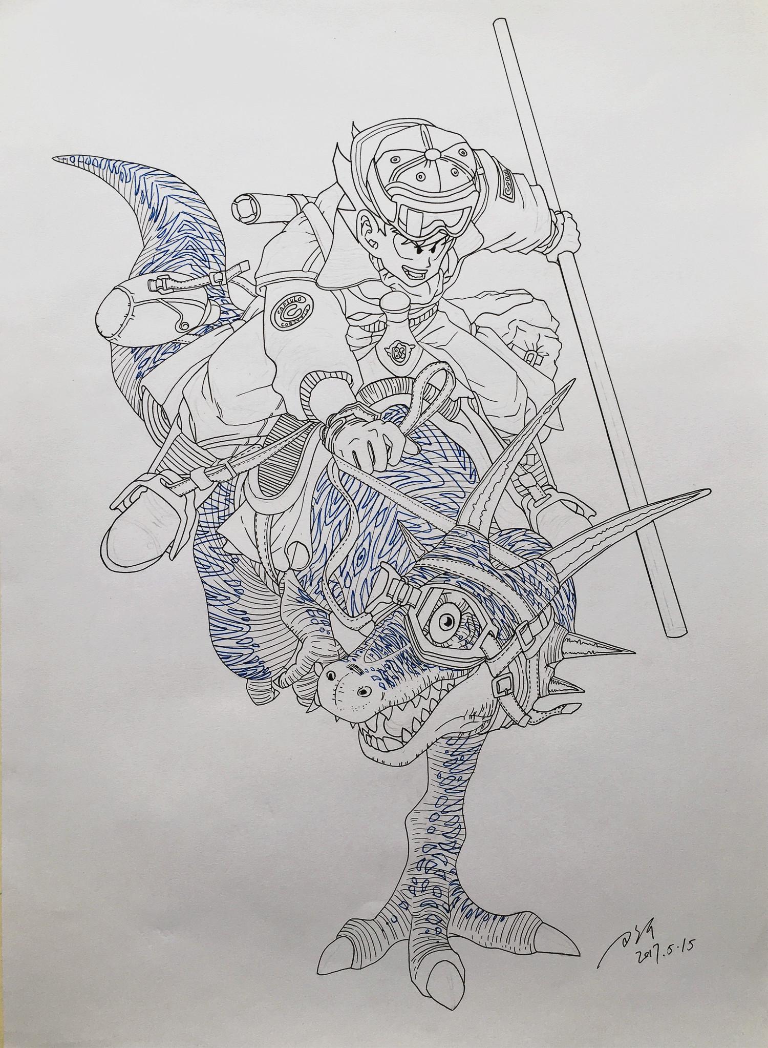 马克笔手绘七龙珠