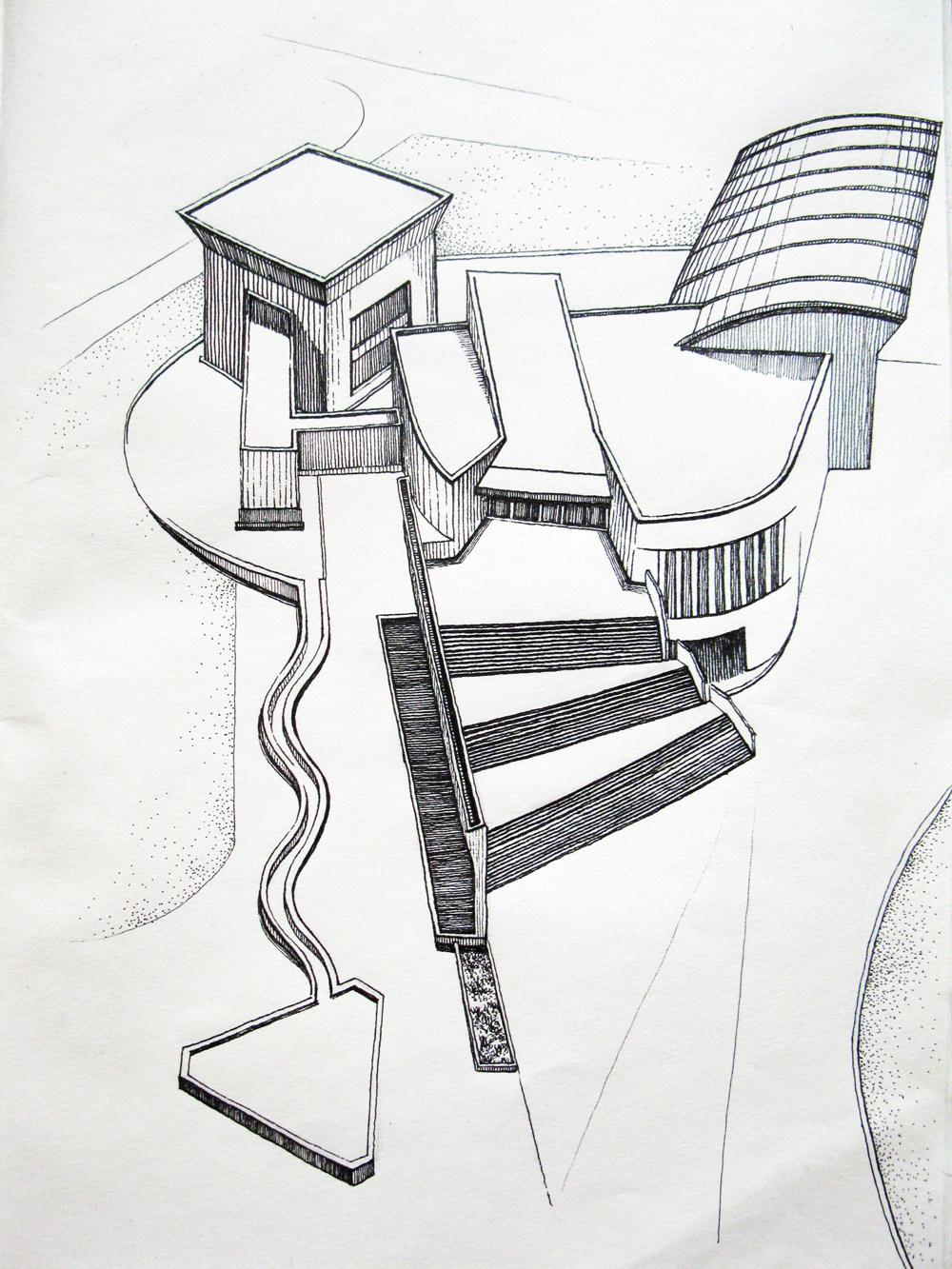 建筑手绘 |插画|其他插画|累的嘎嘎 - 原创作品