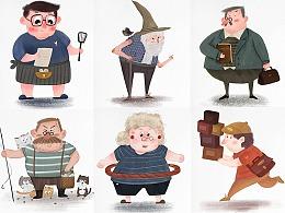 儿童插画人物角色原创设计