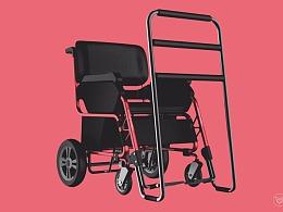 欣赏创意辅助医疗产品设计_多功能康复轮椅设计