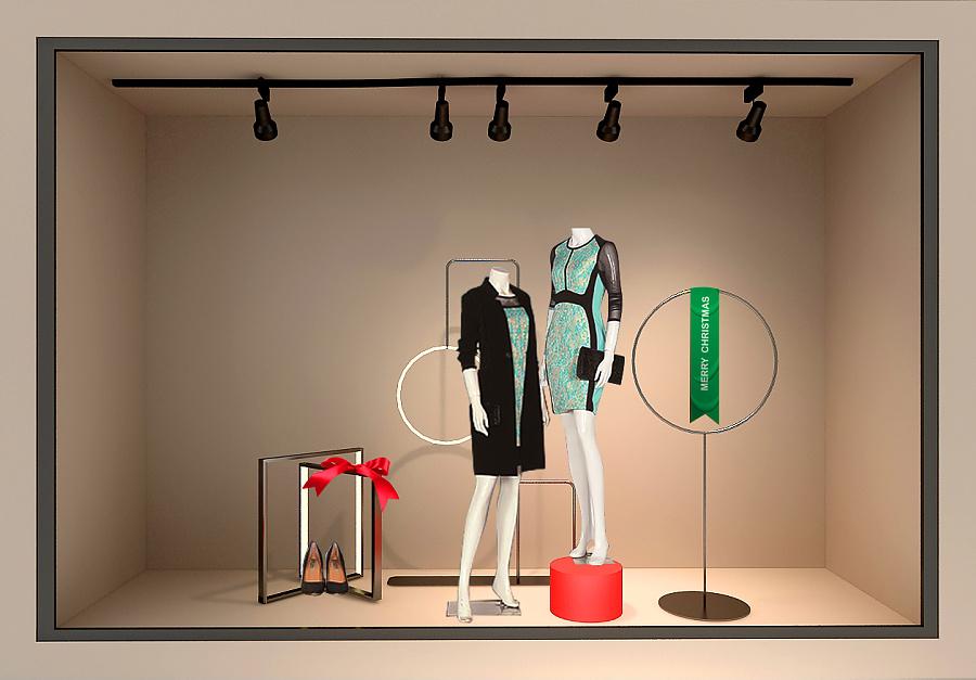 渡非设计圣诞橱窗(大淑) |展示设计 |空间|渡非