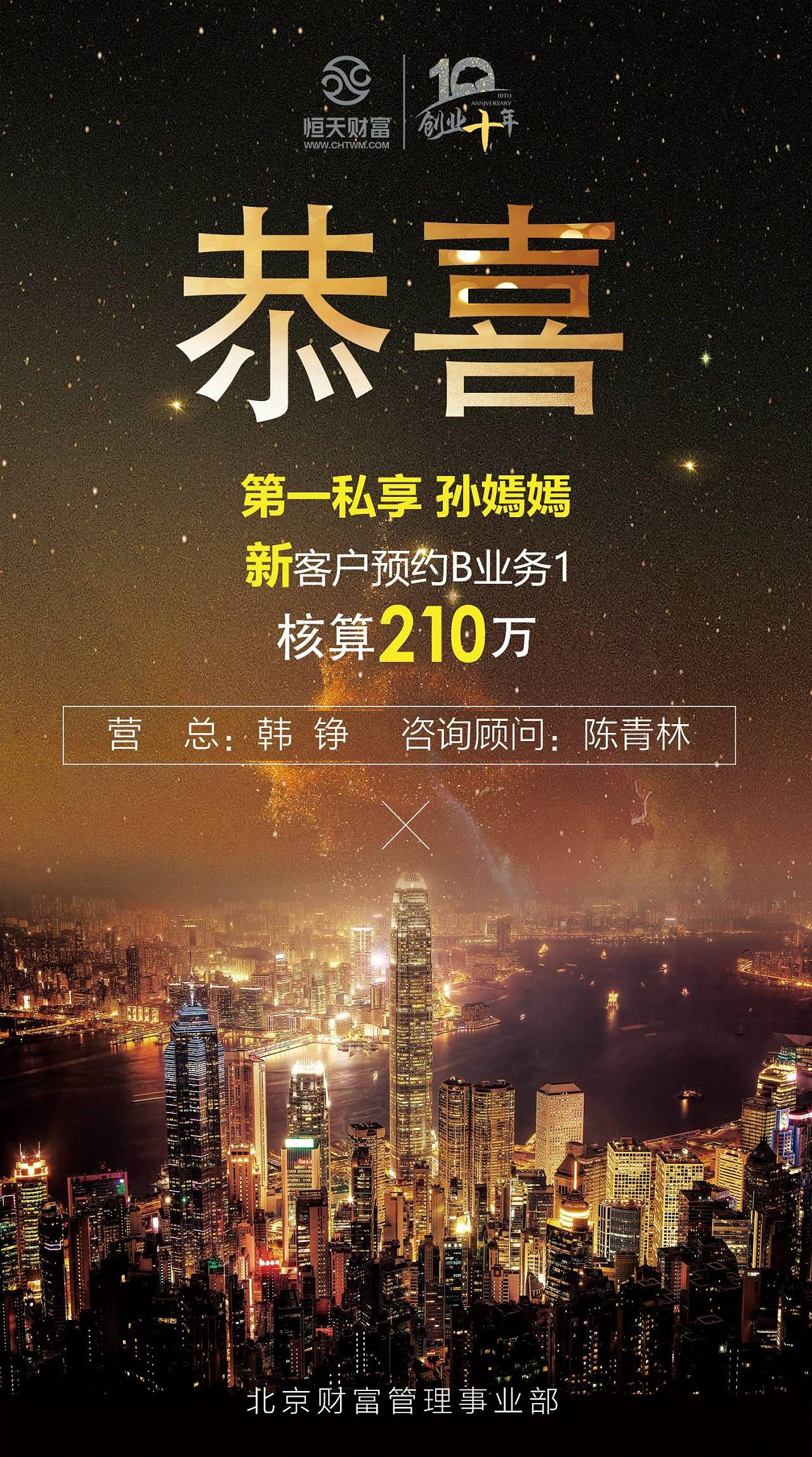 香港背景喜报图片