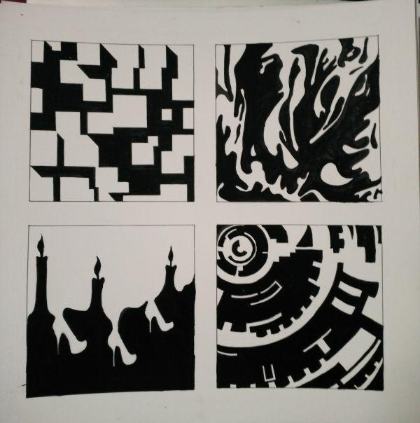 平面构成——点线面|图形/图案|平面|yacon
