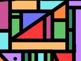 斑斓的蝴蝶与几何的碰撞