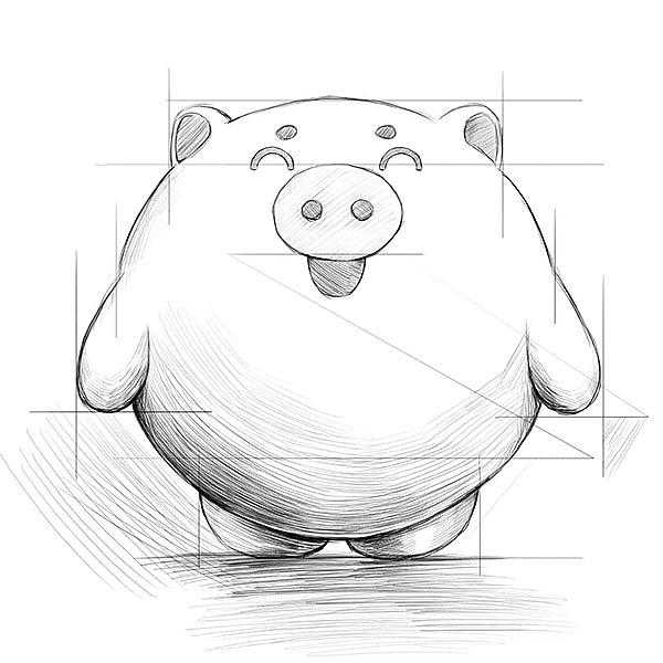 2016派派猪理财吉祥物设计图片