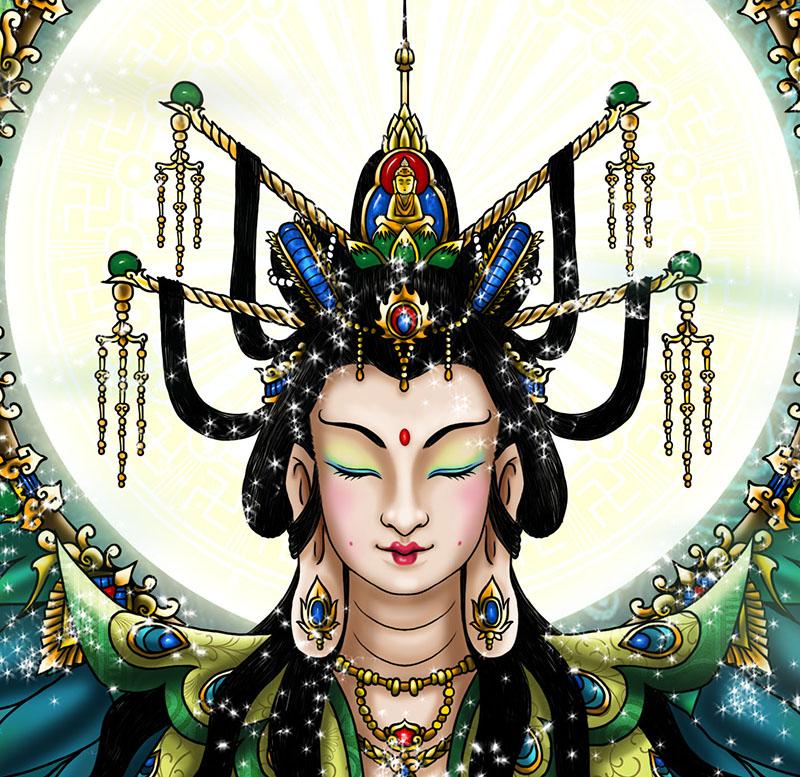 西游记人物普--佛母 孔雀大明王菩萨
