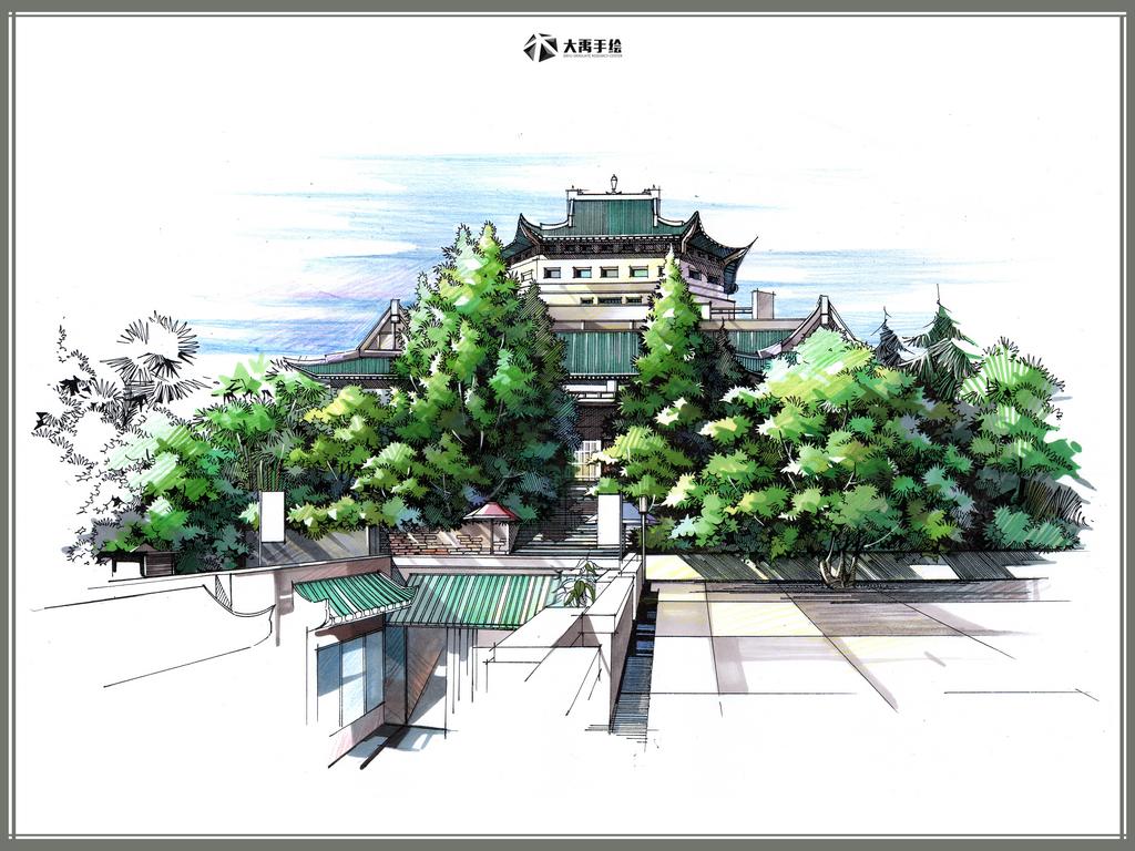2011大禹手绘培训建筑线稿部分- 豆丁网