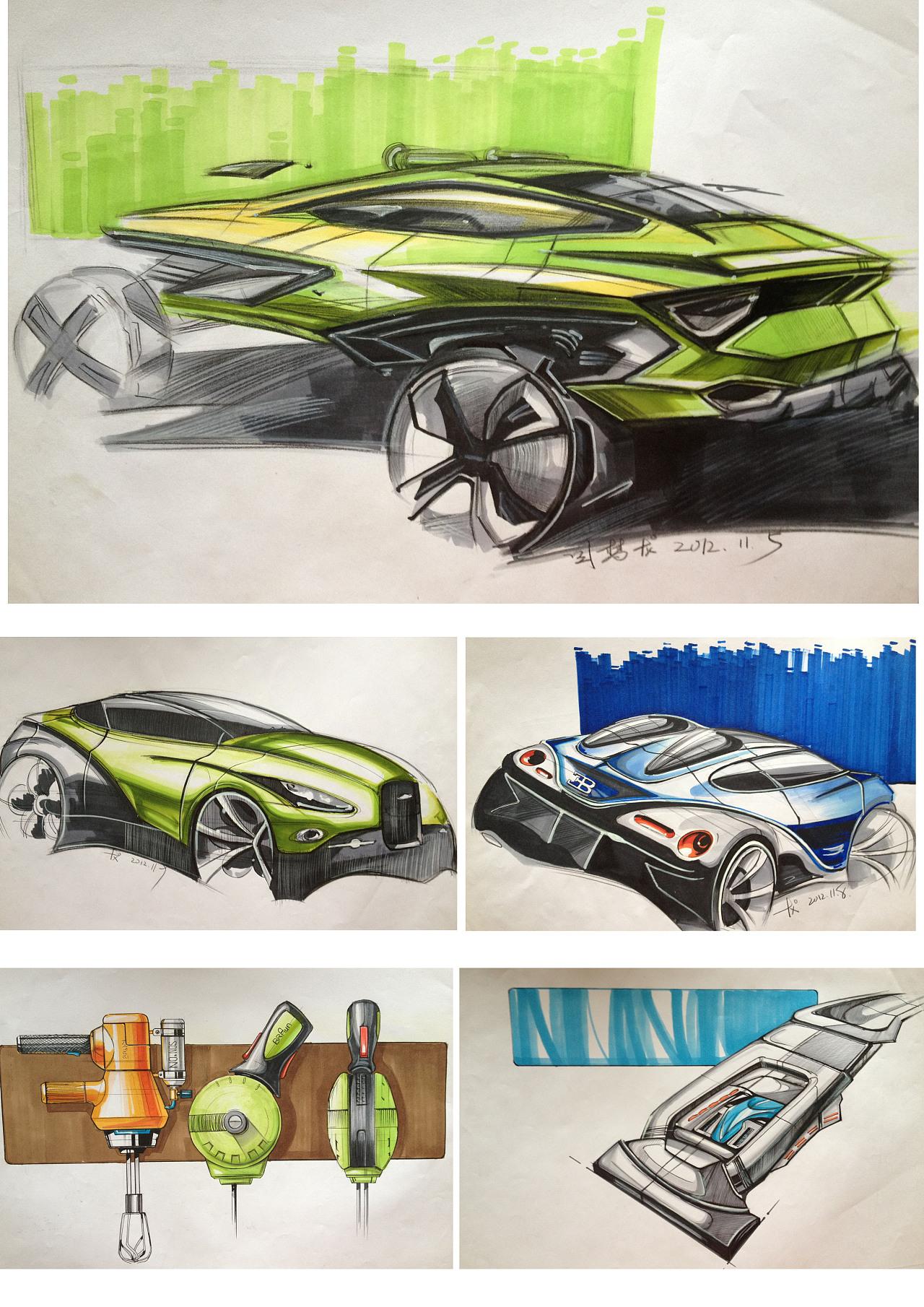 马克笔手绘|工业/产品|交通工具|梦龙fighting8