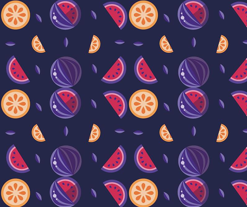 练习画一组水果壁纸