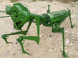 螳螂2 铁艺雕塑重金属朋克风
